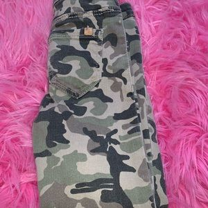 Army fatigue jeans